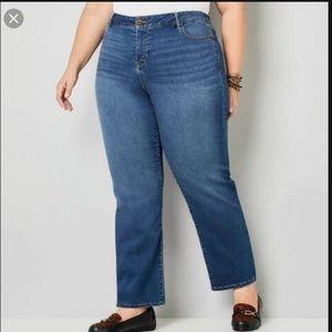 """Avenue Jeans high waist rise straight leg 18 x 29"""""""